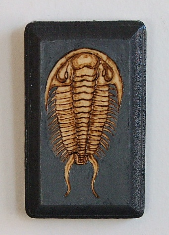 Photo of Trilobite woodburn painting