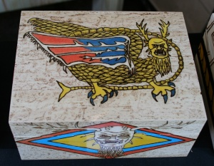 Piasa Bird woodburned box